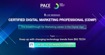 CERTIFIED DIGITAL MARKETING PROFESSIONAL (CDMP) LIVE WEBINAR: KEEP UP WITH CHANGING TECHNOLOGY TRENDS FROM BIG TECH – 03/03/2021