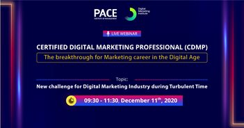 CERTIFIED DIGITAL MARKETING PROFESSIONAL (CDMP) LIVE WEBINAR: NEW CHALLENGES IN DIGITAL MARKETING INDUSTRY DURING TURBULENT TIMES – 11/12/2020